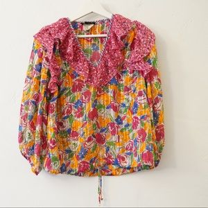 VINTAGE DIANE FRIES BOHO BLOUSE